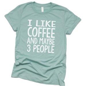 I Like Coffee graphic tee